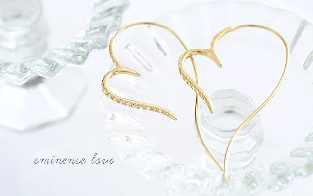 K18 ダイヤモンド ピアス  eminence love