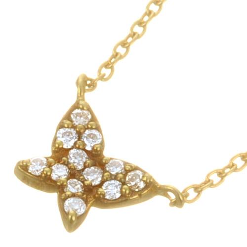 K18 diamond necklace K18 ダイヤモンド ネックレス butterfly