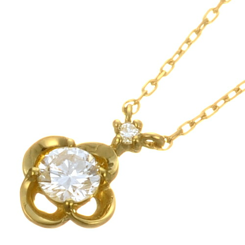 K18 diamond necklace K18 ダイヤモンド ネックレス little flower