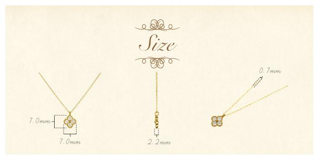 K18 diamond necklace K18 ダイヤモンド ネックレス classical clover