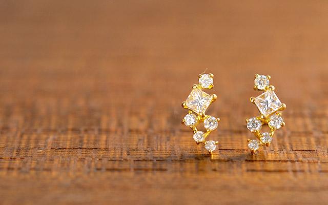 K18 diamond ring K18 ダイヤモンド ピアス ornament