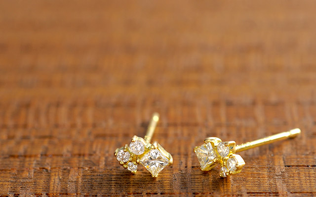 K18 diamond ring K18 ダイヤモンド ピアス decoration