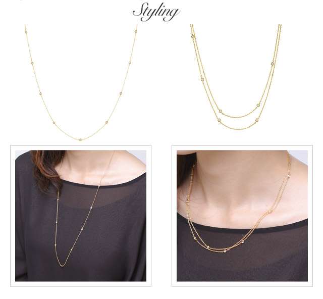 K18 long necklace rhythm