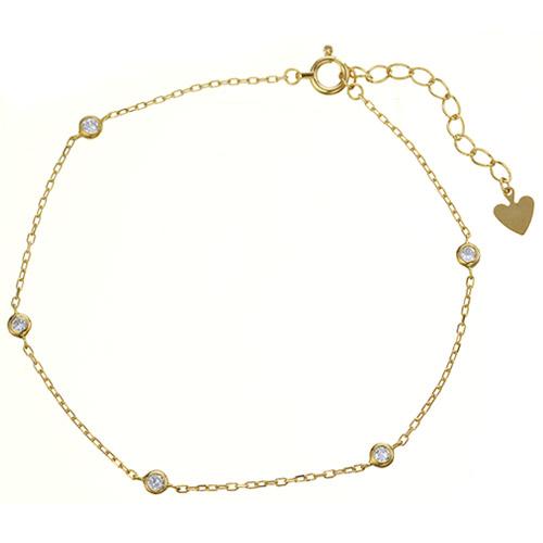 K18 diamond bracelet leap