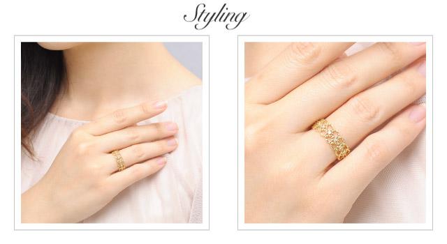 K18 diamond ring K18 ダイヤモンド リング Athena