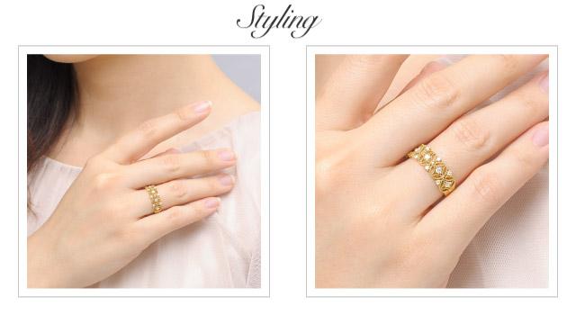 K18 diamond ring K18 ダイヤモンド リング Astrea