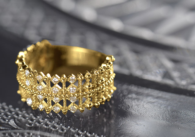 K18 diamond ring K18 ダイヤモンド リング Aglaia