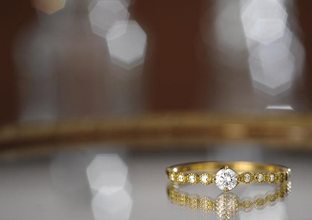 K18 diamond ring K18 ダイヤモンド リング amoroso