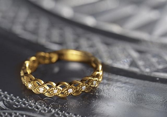 K18 diamond ring K18 ダイヤモンド リング soave