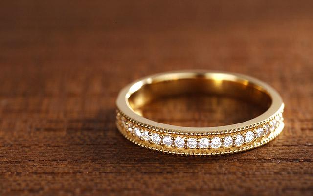 K18 diamond ring K18 ダイヤモンド リング lene