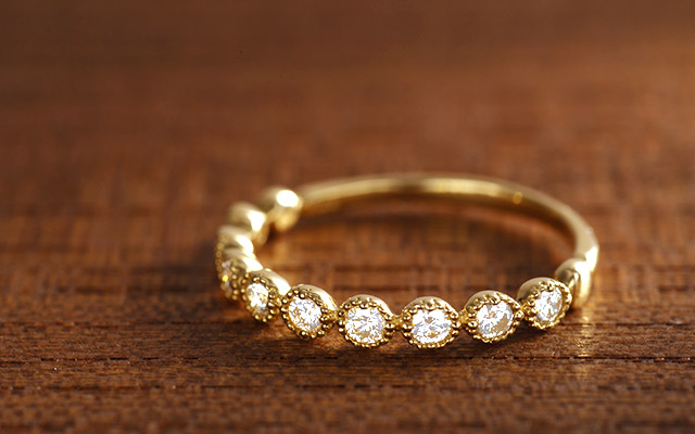 K18 diamond ring K18 ダイヤモンド リング elevato