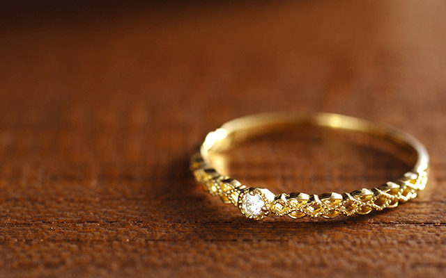 K18 diamond ring K18 ダイヤモンド リング lieve
