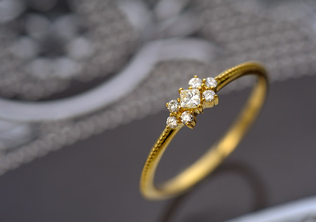 K18 diamond ring K18 ダイヤモンド リング decoration