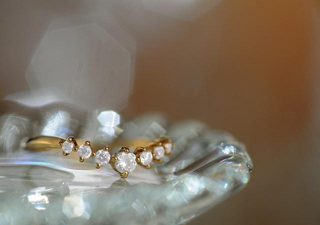 K18 ダイヤモンド リング ease