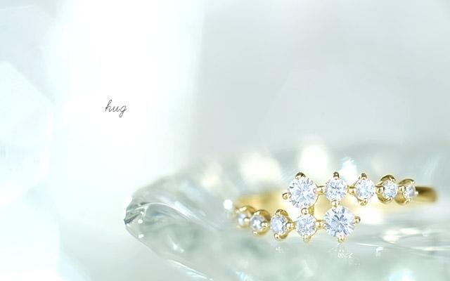 K18 ダイヤモンド リング hug