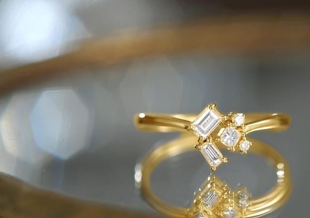 K18 ダイヤモンド リング salon