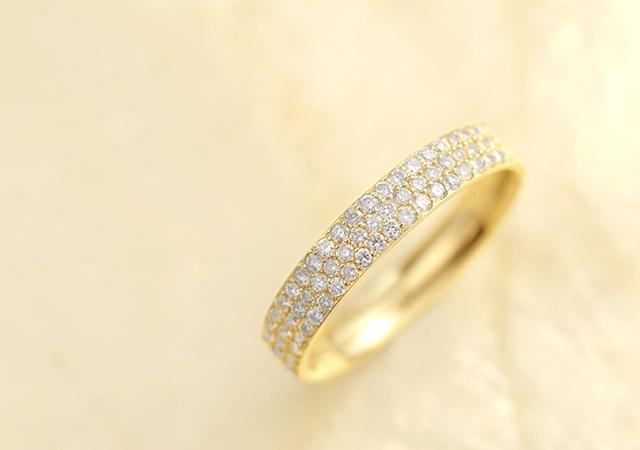 K18 ダイヤモンド リング  dazzle