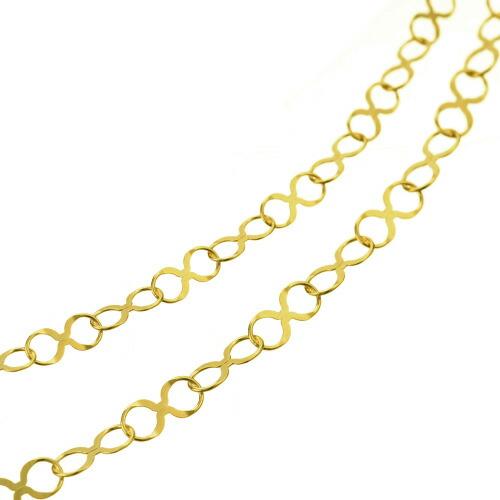 K18 ロングネックレス infinity