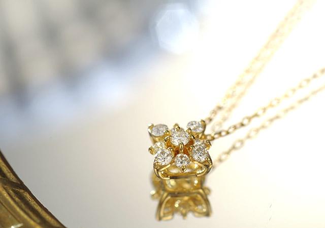 K18 ダイヤモンド ネックレス glint