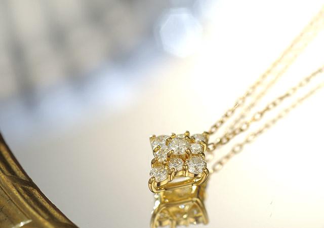 K18 ダイヤモンド ネックレス nova