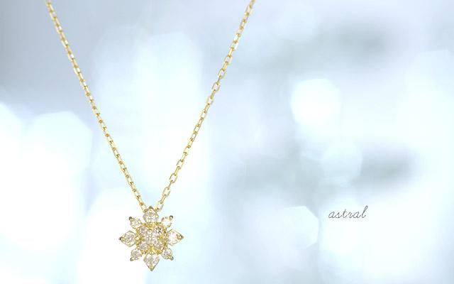 K18 ダイヤモンド ネックレス astral