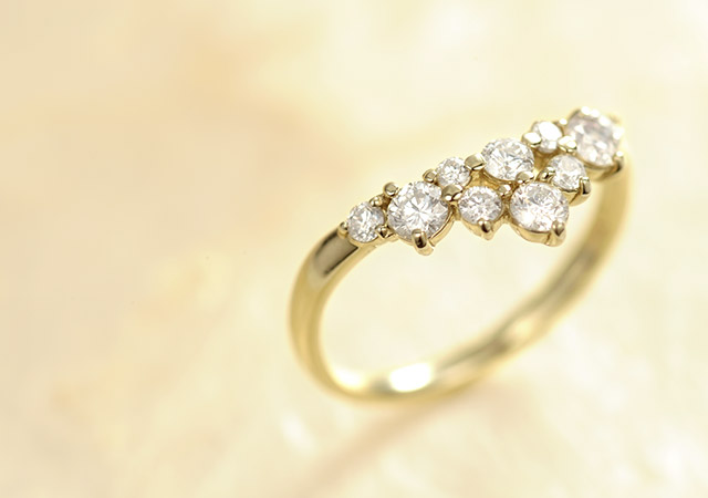 K18 ダイヤモンド リング classy