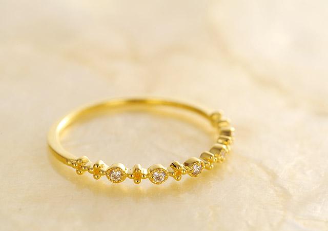 K18 ダイヤモンドリング brilliant