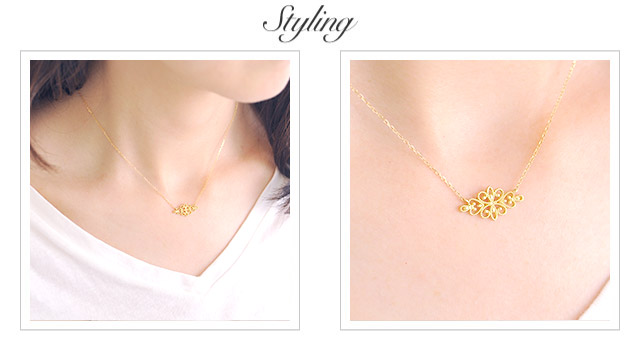 K18 necklace  K18ネックレス flora