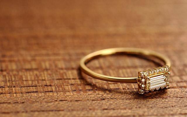 K18 diamond ring K18ダイヤモンド リング core