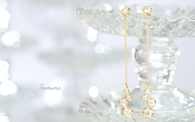 K18 ダイヤモンド ピアス Fortuna