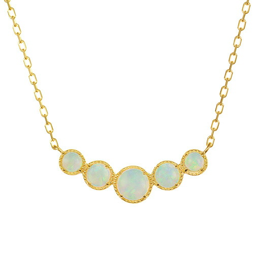 K18 opal necklace destiny gradation