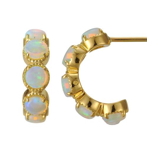 K18 opal pierced earrings destiny gradation