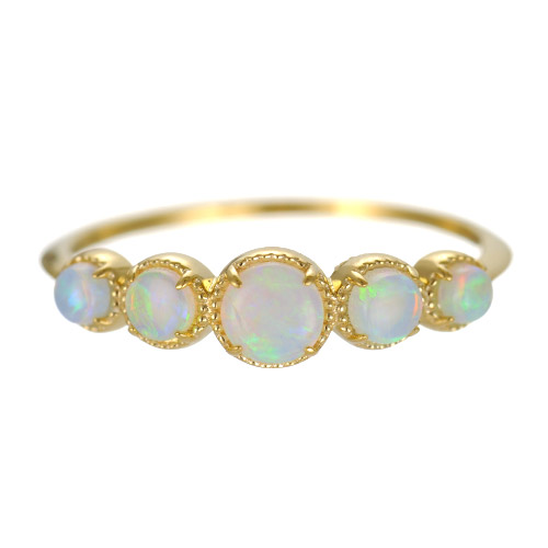 K18 opal ring destiny gradation
