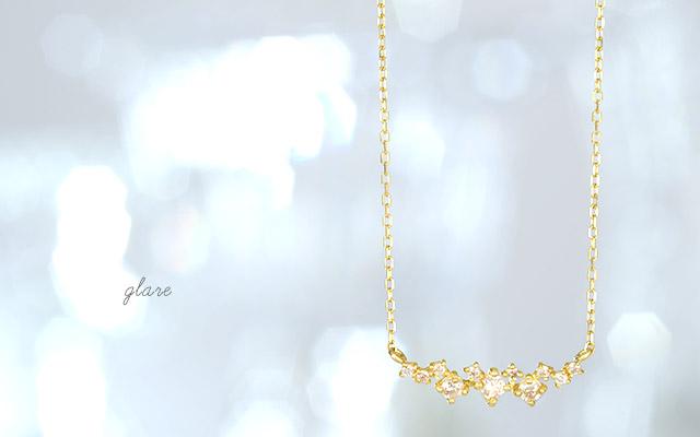 K18ダイヤモンドネックレス  glare