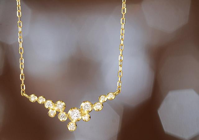 K18ダイヤモンドネックレス  symphony
