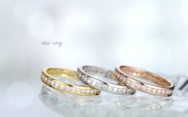 K18 diamond ring dia-ray