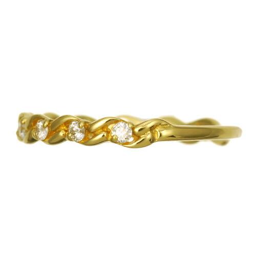 K18 diamond ring angel river