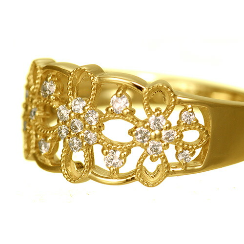 K18 diamond ring florist
