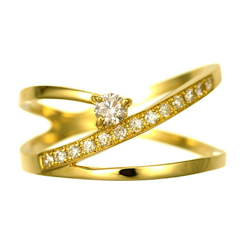 K18 diamond ring creeper