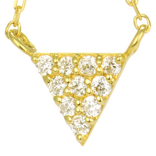 K18 ダイヤモンド ピアス triangle