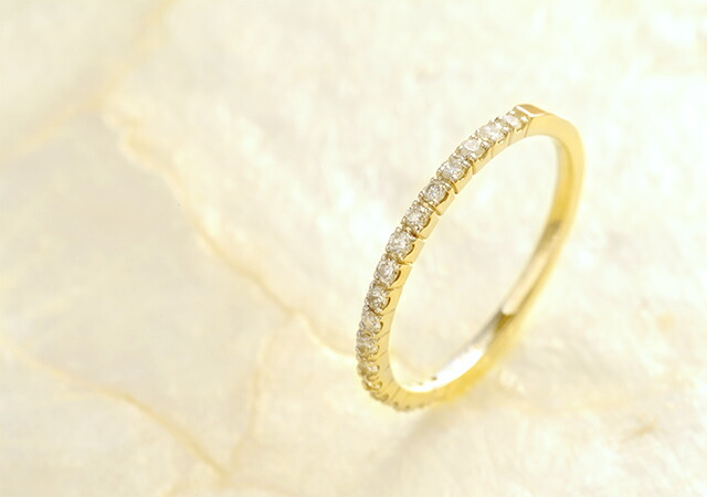 K18 diamond ring eternal