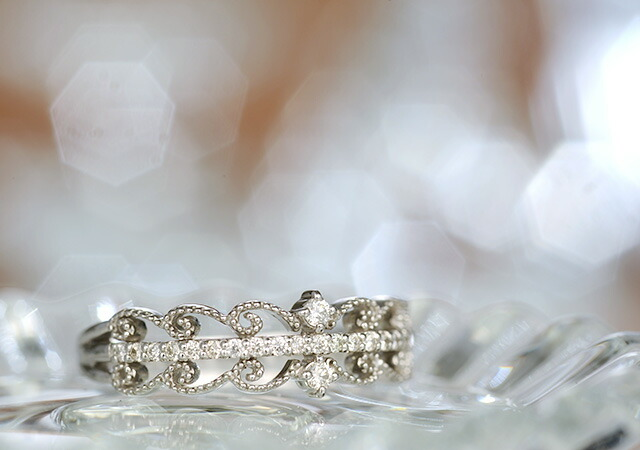 K18 diamond ring celestial