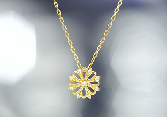 K18 diamond necklace kaleidoscope