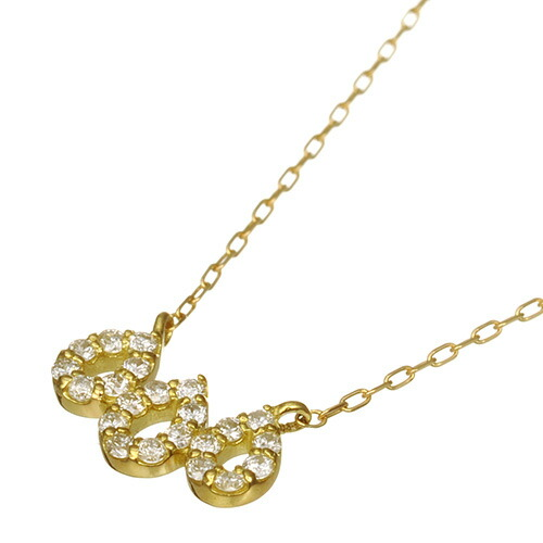 K18 diamond necklace three drops