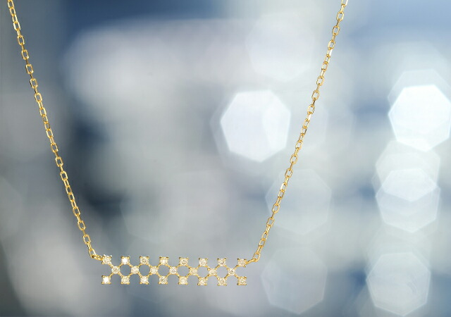 K18 diamond necklacejoint line