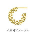 K18 pierced earrings love lace
