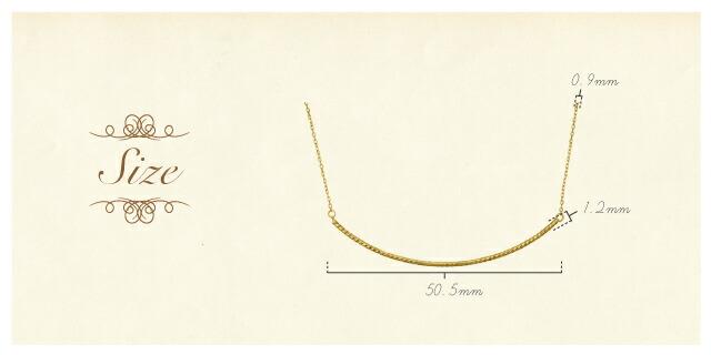 K18 longnecklace elegant curve