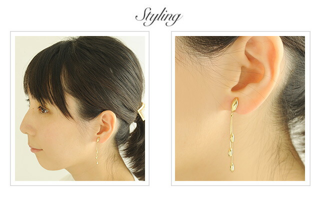 K18 Earring triple drop