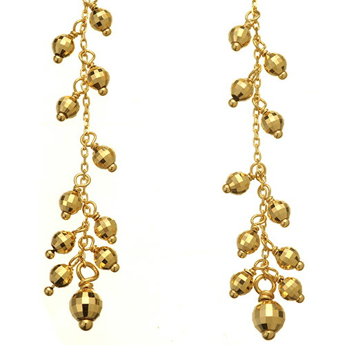 K18 pierced earrings spray
