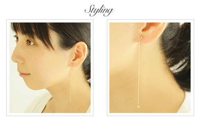 K18 Earring stardust